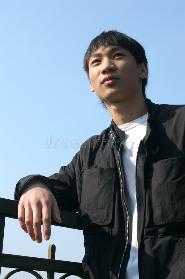 Young Asian Man stock image