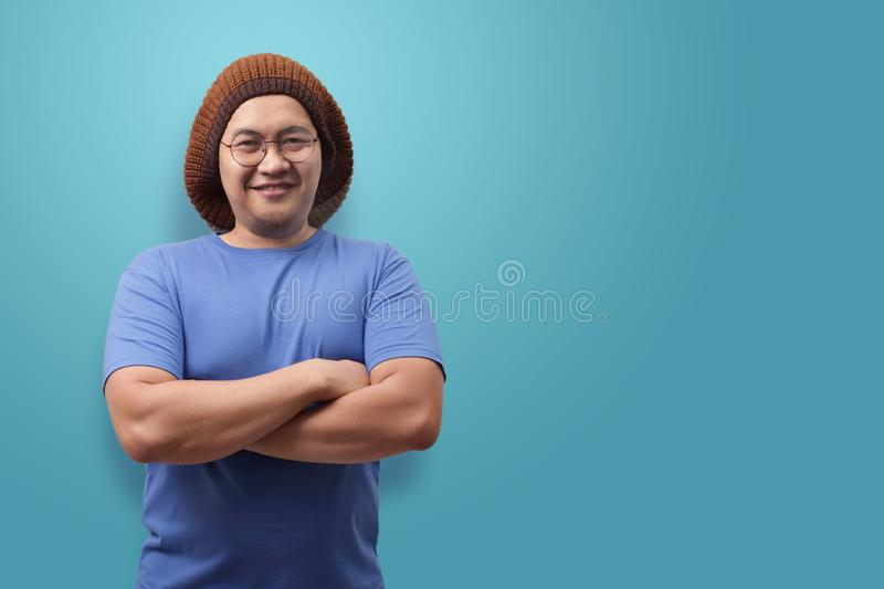 Young Asian Man Smiling Happily stock photo