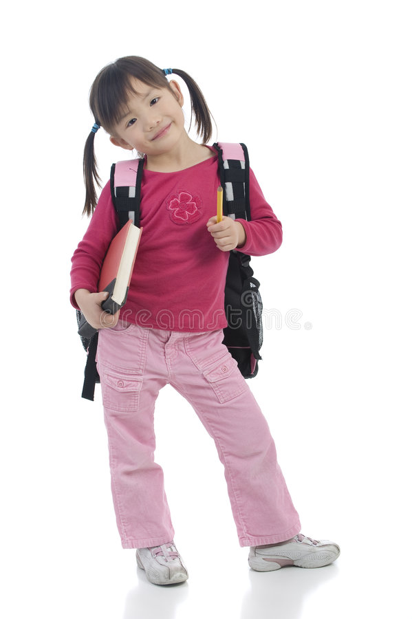 Young Asian School Girl Stock Photos