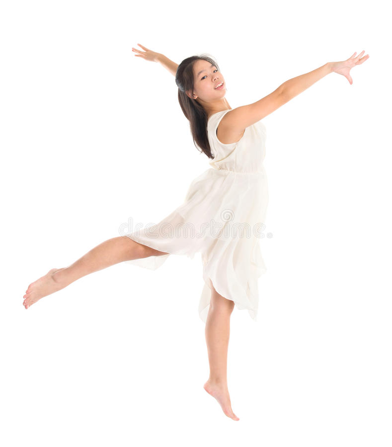 Young Asian teen contemporary dancer stock image