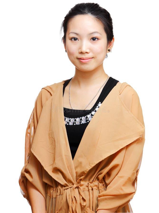 Young asian woman. Beautiful young asian woman looking stock photo