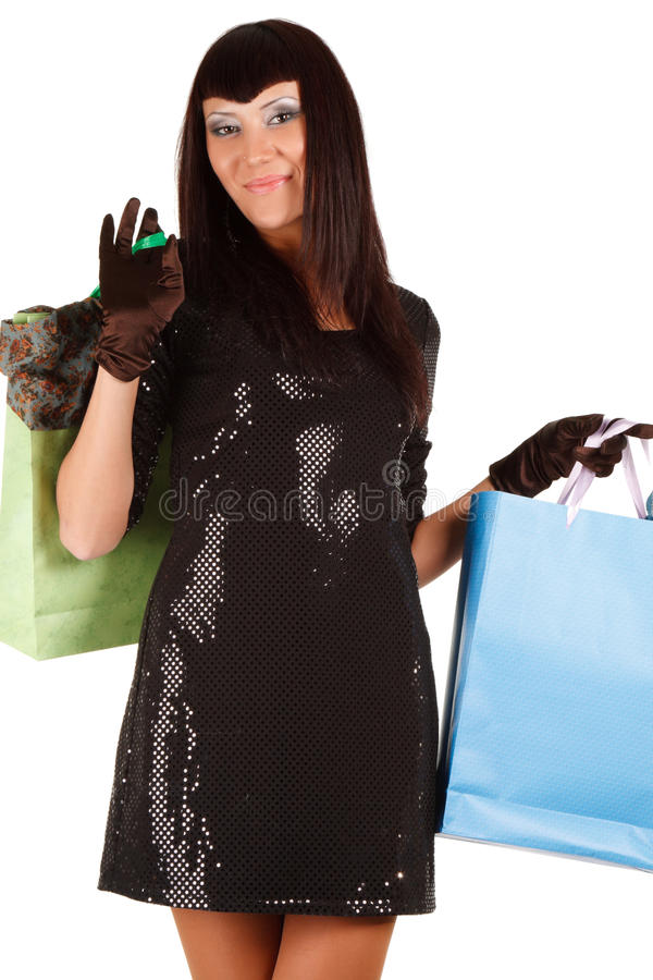 Download Young Asian Woman Carrying Shopping Bag Stock Image - Image: 13299611