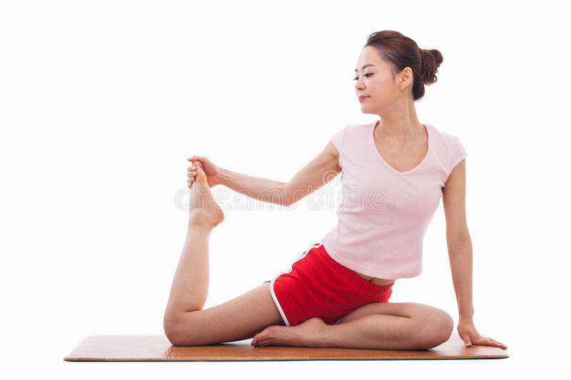 Download Young Asian Woman  Exercise Yoga Stock Image - Image: 29473587