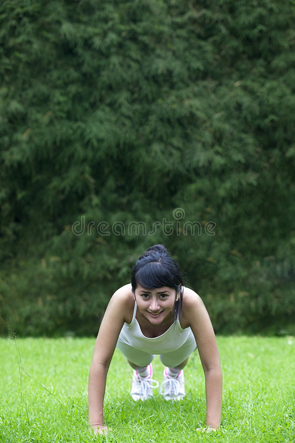 Download Young Asian Woman Exercising Outdoor Stock Image - Image: 24796899
