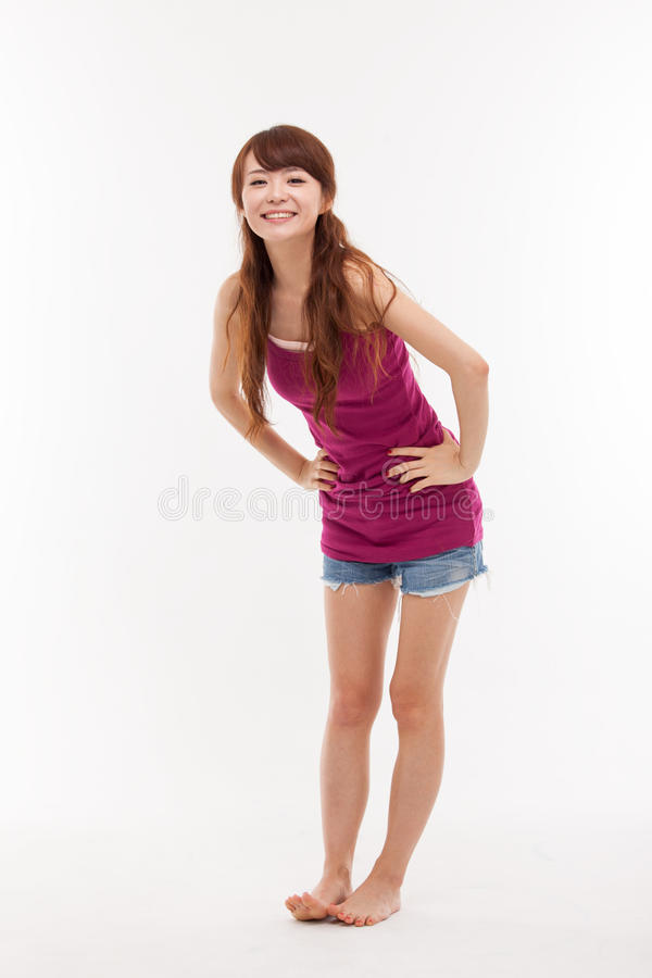 Young Asian woman full shot royalty free stock photos