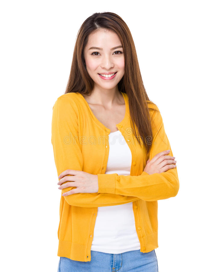 Young asian woman royalty free stock image