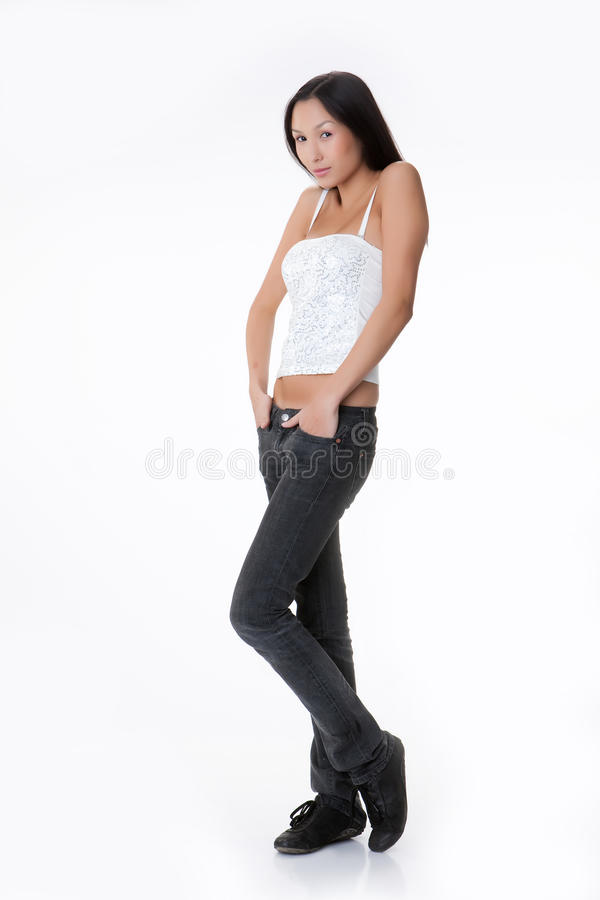 Download Young Asian Woman With A Pink Scarf Stock Image - Image: 11200265