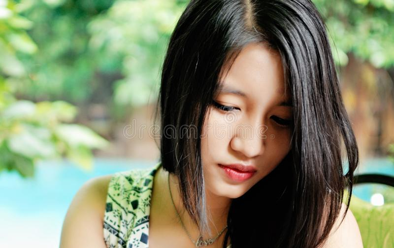 Young Asian Woman royalty free stock images