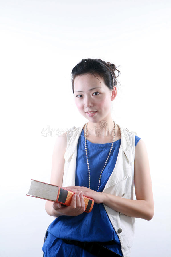 Download Young Asian Woman Reading Book Stock Image - Image: 9846577