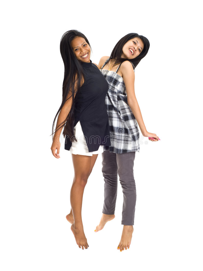 Free Young Asians Jumping For Joy Royalty Free Stock Photos - 7004808