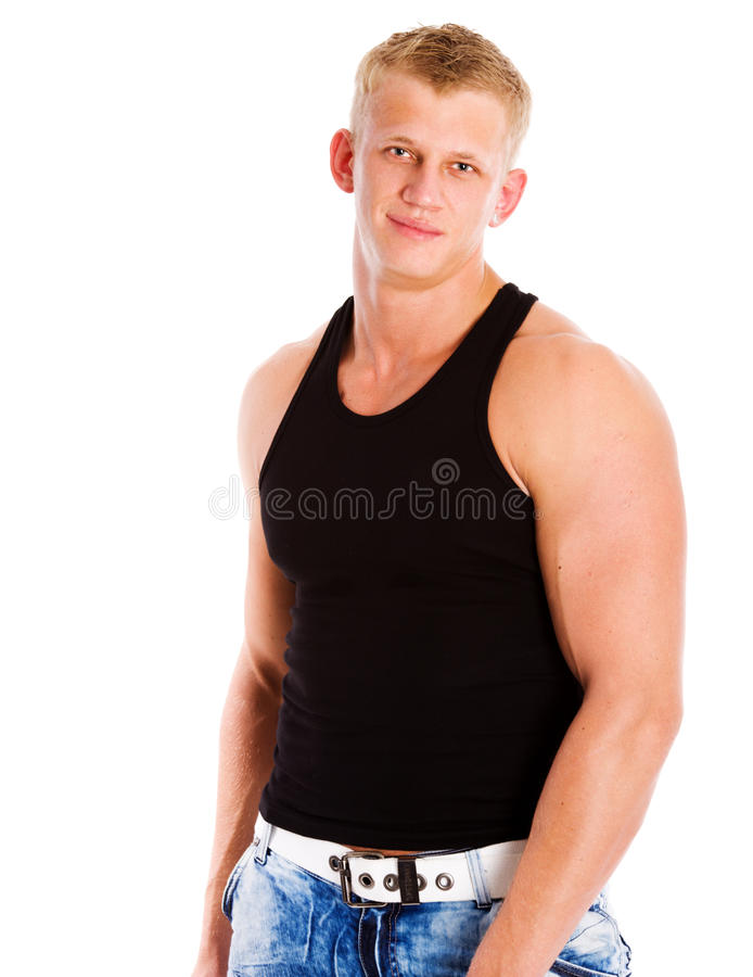 Young athlete royalty free stock photo