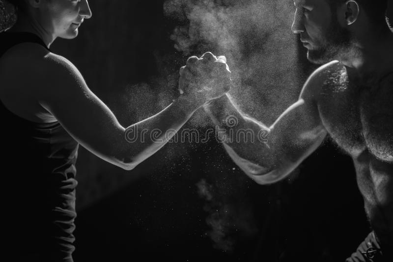 Young athlete practicing crossfit training royalty free stock photo