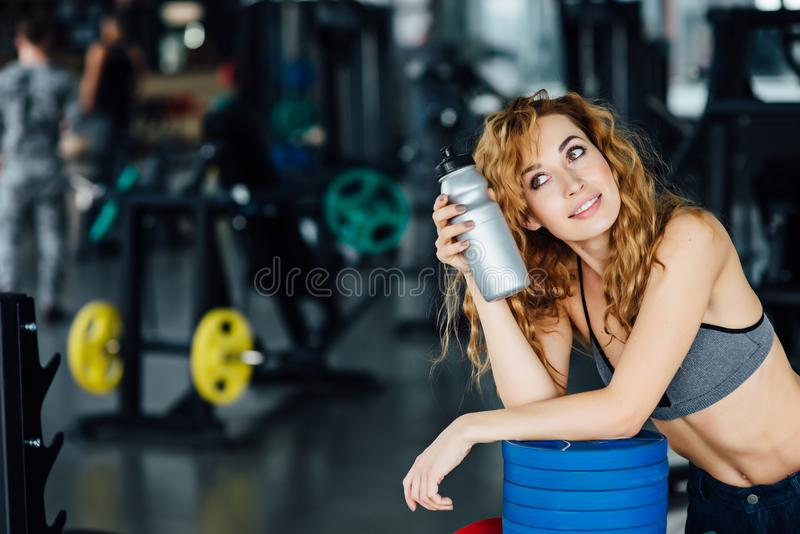 Young Athletic Woman In The Gym Stock Photo Image Of