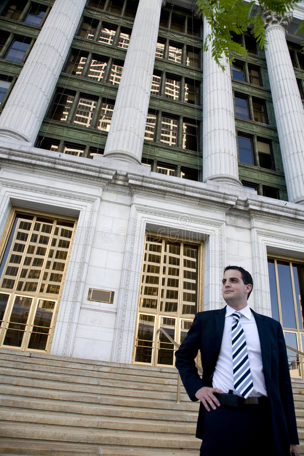 Free Young Attorney In Front Of Courthouse Stock Images - 3766284