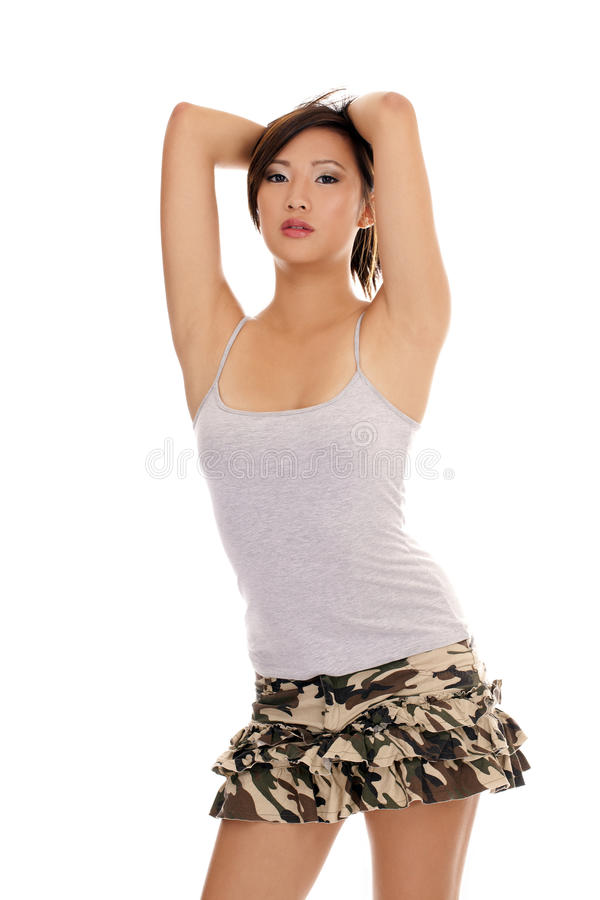 Young Attractive Asian American Woman Stock Photo Image Of Young Shirt 22190318
