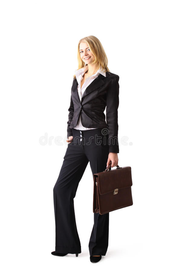 Free Young Attractive Blonde Business Woman Royalty Free Stock Images - 21434019