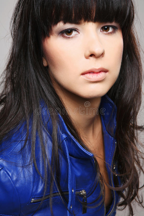 Young attractive brunette. stock photos
