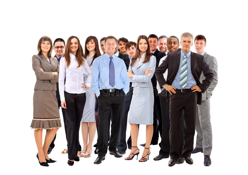 Young attractive business people. The elite business team royalty free stock image