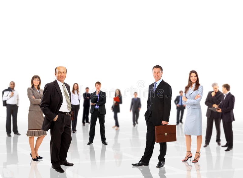 Young attractive business people. The elite business team stock images