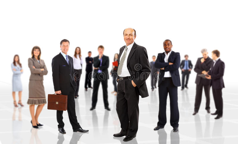 Young attractive business people. The elite business team royalty free stock photo