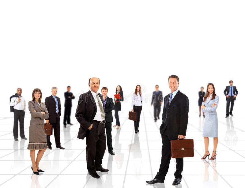 Young attractive business people. The elite business team stock image