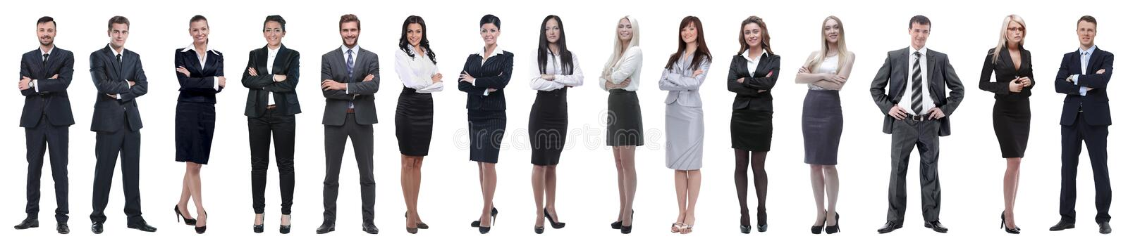 Young attractive business people - the elite business team royalty free stock photos