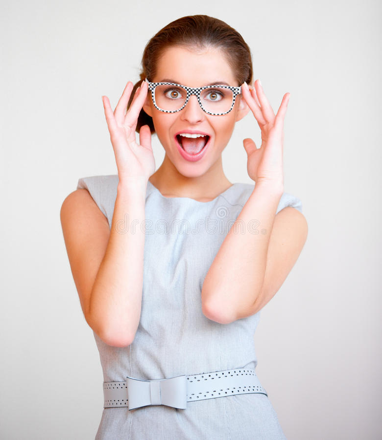 Download Young Attractive Business Woman With Glasses Stock Photo - Image: 22134878