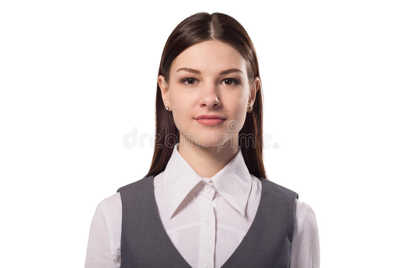 Young attractive businesswoman royalty free stock images