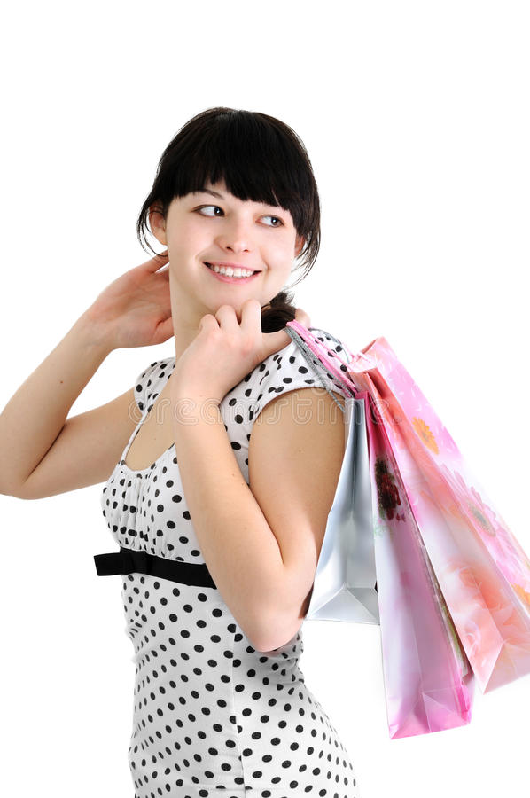 Download Young attractive buyer stock image. Image of elegance - 19346779