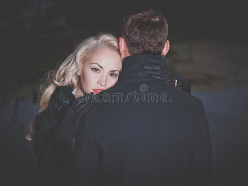Young attractive couple stock image