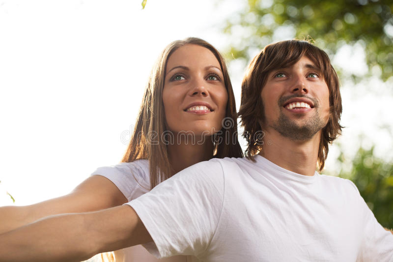 Download Young Attractive Couple Together Outdoors Stock Photo - Image: 26652764