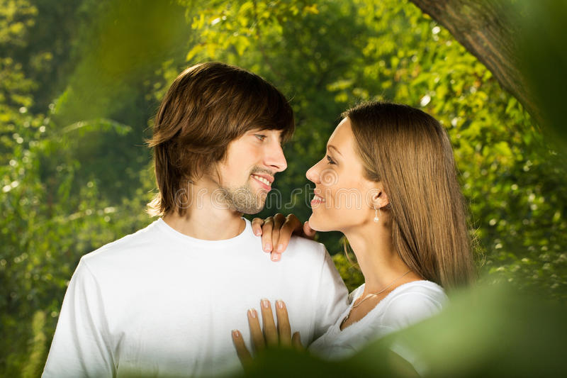Download Young Attractive Couple Together Outdoors Stock Image - Image: 26795815