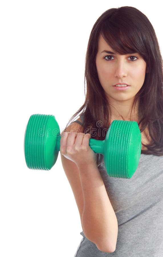 Download Young Attractive Girl Lift A Weight Stock Photo - Image of sport, might: 23740028