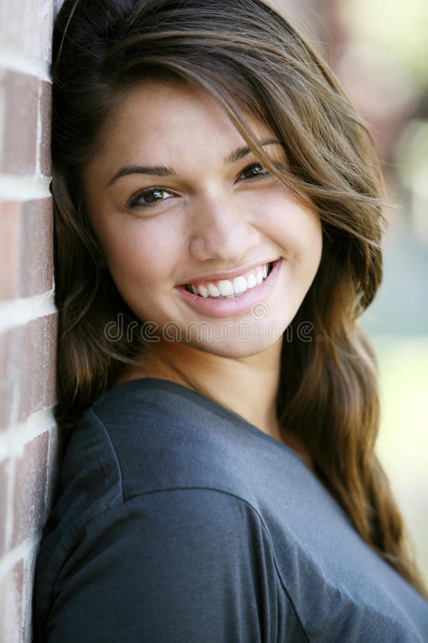 Young attractive happy girl. royalty free stock image