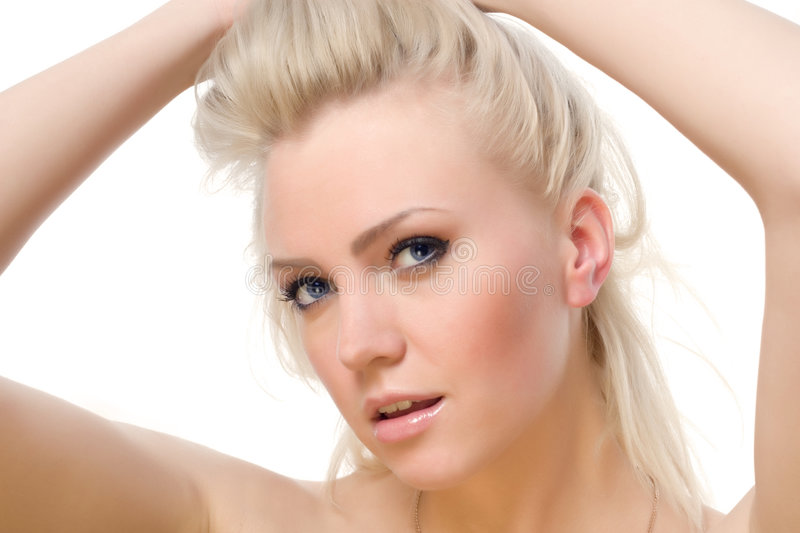 Young attractive lady royalty free stock image