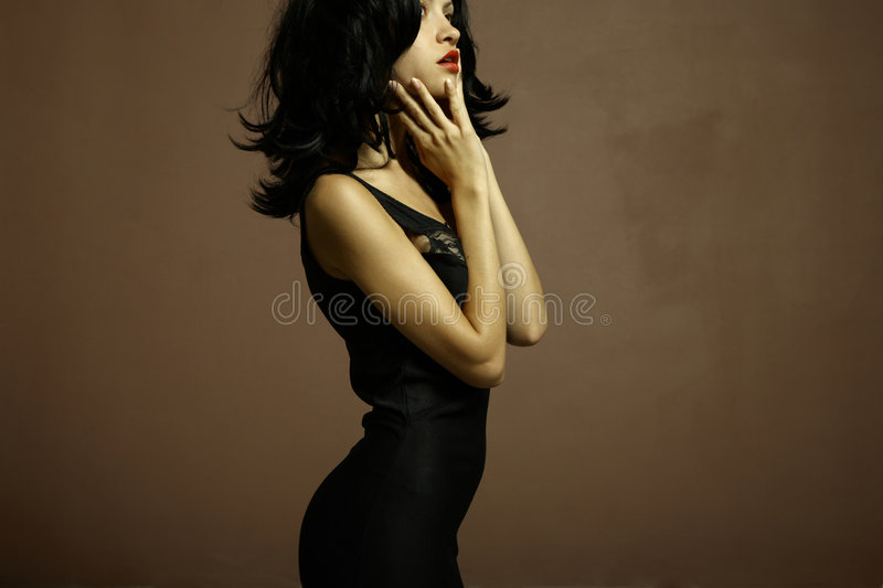 Young attractive lady. Portrait of young attractive lady. Fashion photo stock photos
