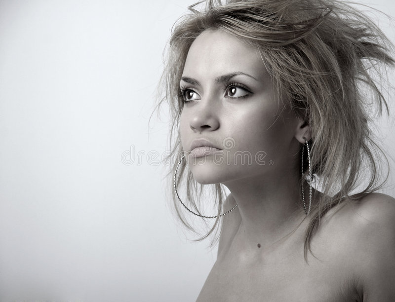 Young attractive lady stock image