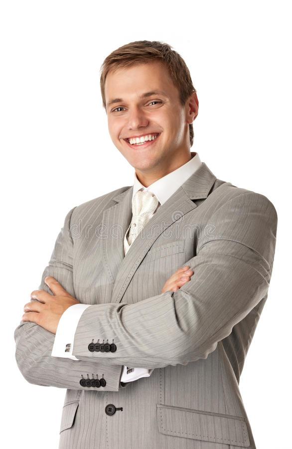 Young attractive man smiling brightly stock image