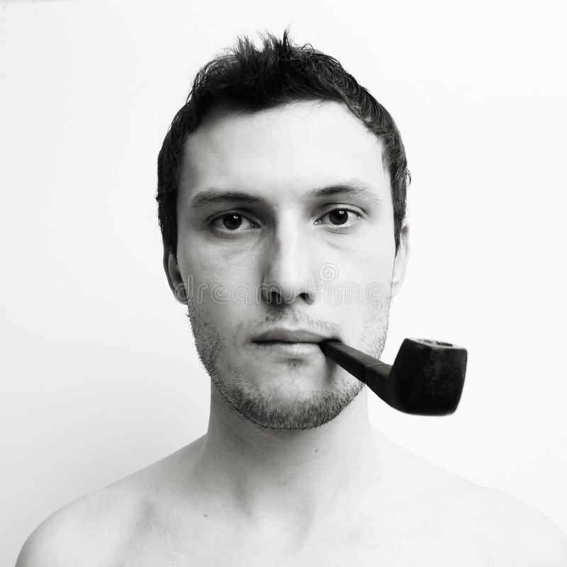 Download Young Attractive  Man With Tube Royalty Free Stock Photography - Image: 9254617