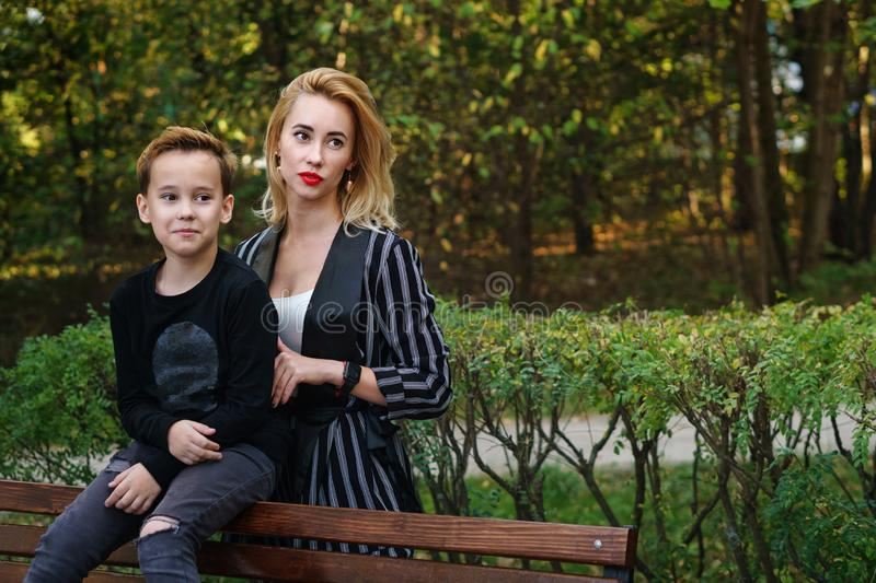 Mother and son. Family time royalty free stock images