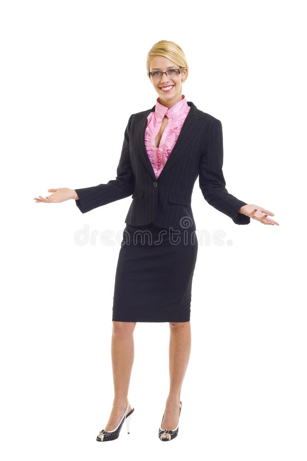 A young attractive professional woman stock image
