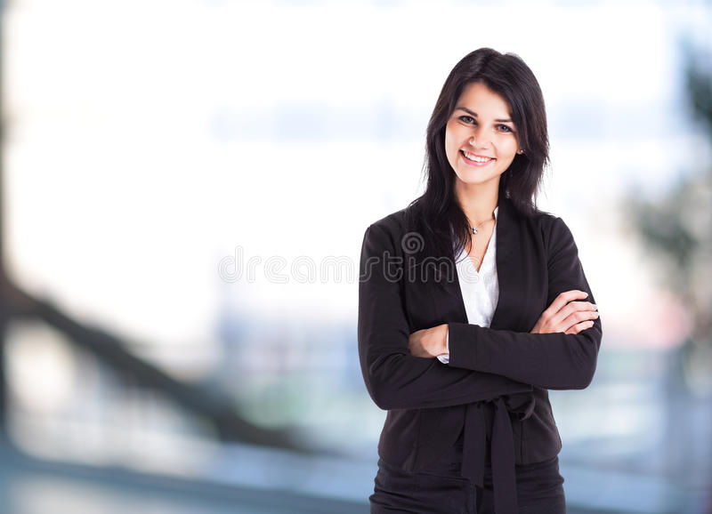 Young, attractive, successful business woman stock photography