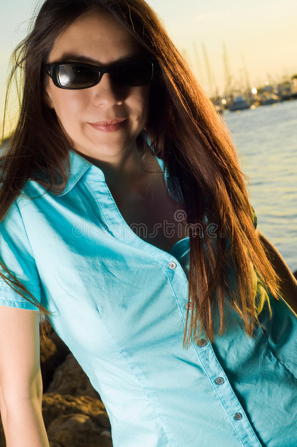 Young attractive woman royalty free stock image