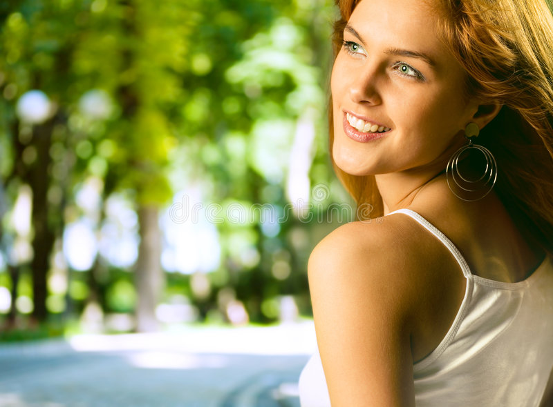 Young attractive woman royalty free stock photos
