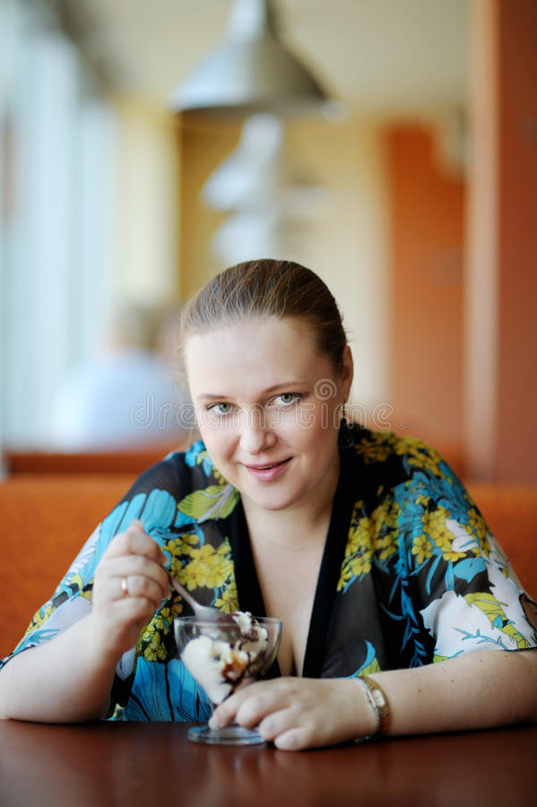Download Young Attractive Woman In Cafe Stock Image - Image: 16733665