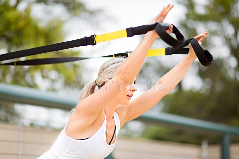 Young woman sport training royalty free stock photography