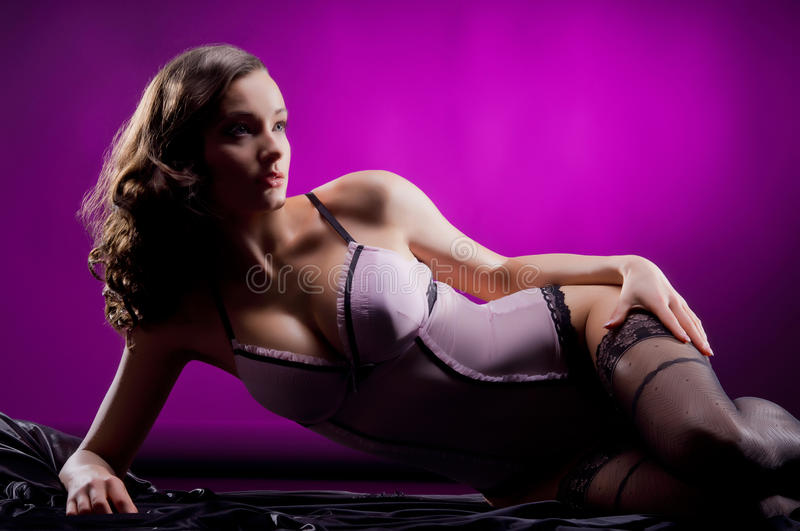Download A Young And Attractive Woman In Erotic Lingerie Stock Photo - Image: 24138342