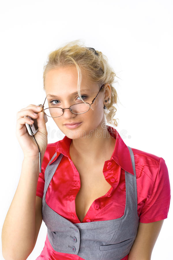 Download Young Attractive Woman With Glasses Look At You Stock Image - Image: 17270915