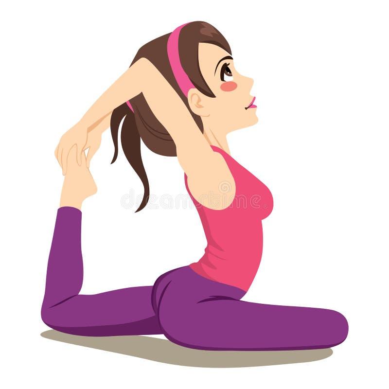 Yoga King Pigeon Exercise vector illustration