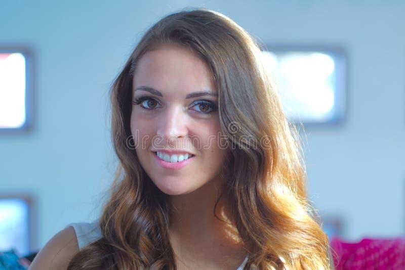 Young women portrait makeup eyes confident portrait lifestyle royalty free stock photography